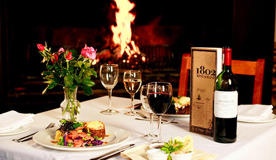 Gourmet dining at Cape Winelands Hotels.