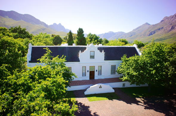Lanzerac Manor wine estate in Stellenbosch.