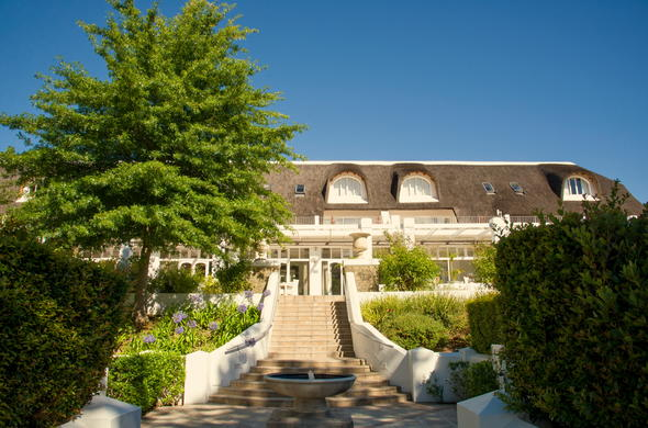 Exterior view of Le Franschhoek Hotel & Spa.