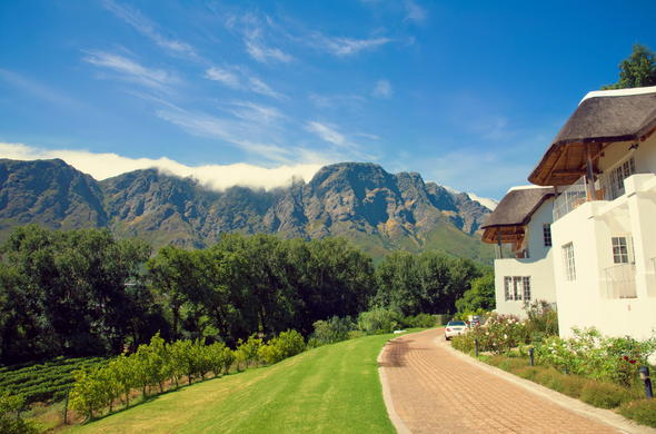 Breathtaking mountain views in Franschhoek.