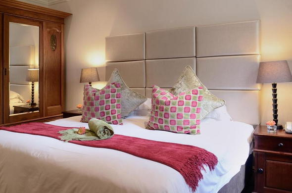 Comfortable standard room at River Manor Boutique Hotel & Spa.