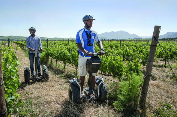 Explore Spier Wine estate on a Segway tour.